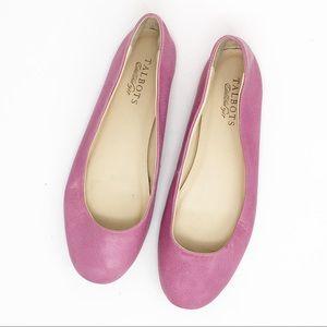 TALBOTS Leather Rose Pink Ballet Flats Slip Ons